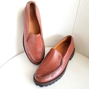 Cole Haan Brown Leather Country Loafers
